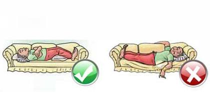 نحوه درست خوابیدن برای پیشگیری از کمردرد