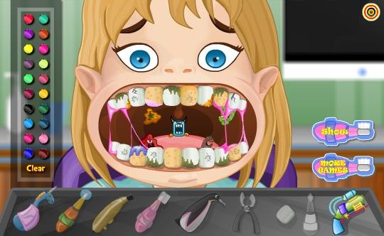 بازی دندانپزشکی دختر کوچولو